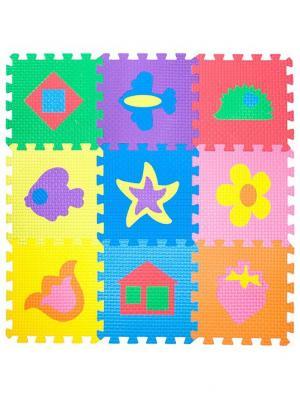 Мягкий Конструктор Напольное Покрытие С Креплением Ласточкин Хвост Радуга Картинками Janett. Цвет: красный, бирюзовый, желтый