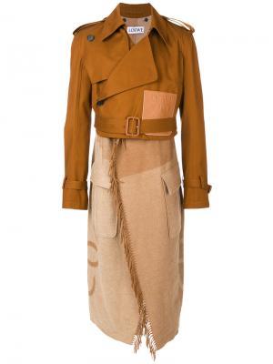 Тренч Blanket Loewe. Цвет: коричневый