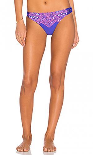 Ретро плавки бикини Ella Moss. Цвет: фиолетовый