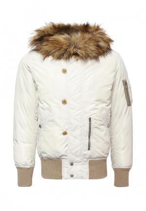 Куртка утепленная Diesel. Цвет: белый