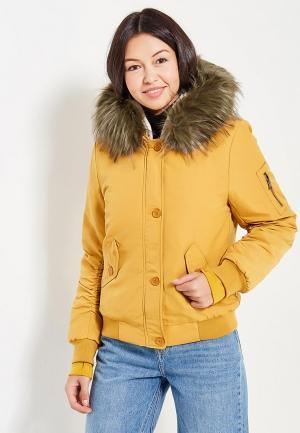 Куртка утепленная Laura Jo. Цвет: желтый