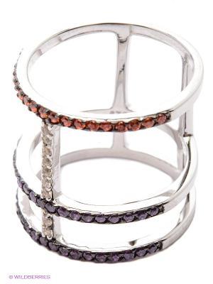 Кольцо JV ДЖЕЙ ВИ. Цвет: серебристый, фиолетовый, коралловый
