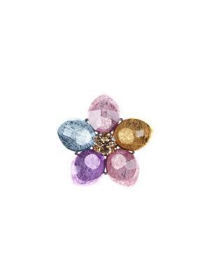 Брошь Olere. Цвет: серебристый, розовый, фиолетовый