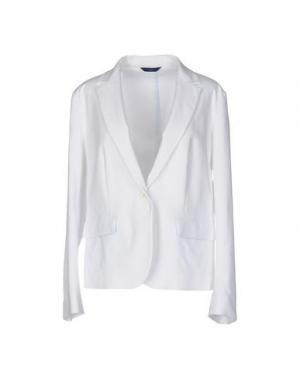 Пиджак BLUE LES COPAINS. Цвет: белый
