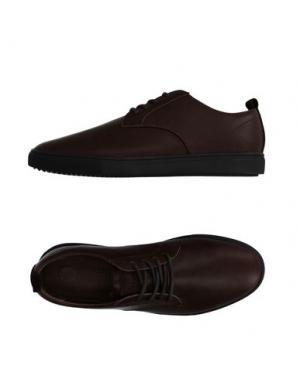 Низкие кеды и кроссовки CLAE. Цвет: темно-коричневый