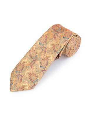 Галстук Paisley Tradition Troy Duchamp. Цвет: лазурный, оранжевый, светло-желтый