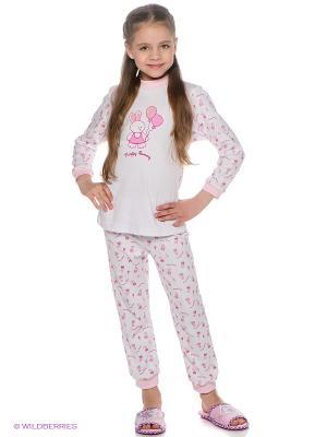 Пижама КОТМАРКОТ. Цвет: белый, бледно-розовый, фуксия