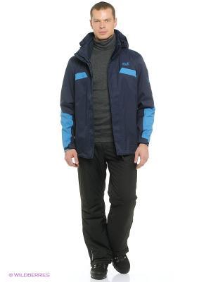 Куртка TOPAZ JACKET MEN II Jack Wolfskin. Цвет: темно-синий