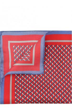 Шелковый платок с узором Pal Zileri. Цвет: бордовый