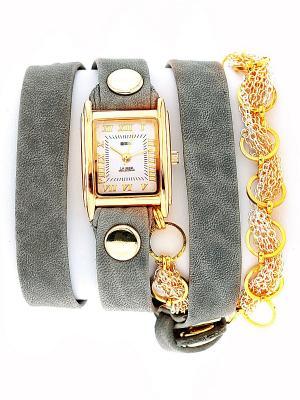 Часы La Mer Collections. Цвет: серо-коричневый, золотистый