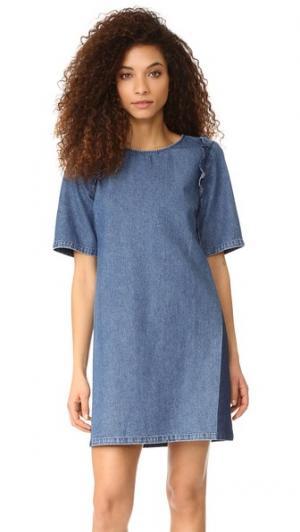Платье Alicia Loup. Цвет: деним