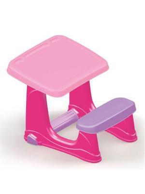 Парта со скамейкой розового цвета Dolu.. Цвет: розовый