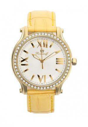 Часы Romanoff. Цвет: желтый