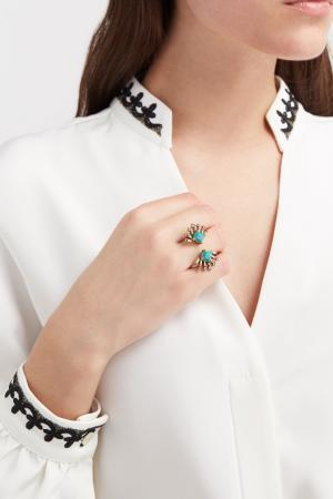 Кольцо с кристаллом RubyNovich. Цвет: золотой