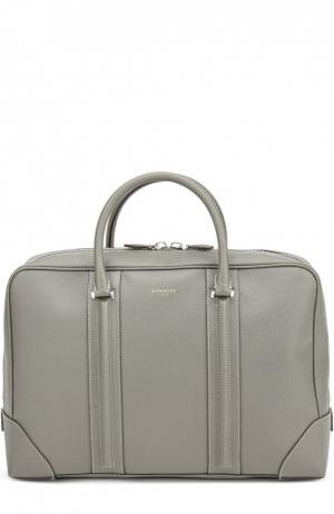 Кожаная сумка Lucrezia для ноутбука Givenchy. Цвет: серый