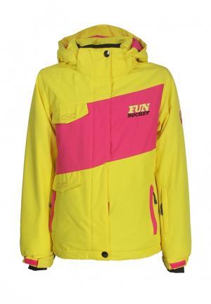 Куртка утепленная Fun Rocket. Цвет: желтый