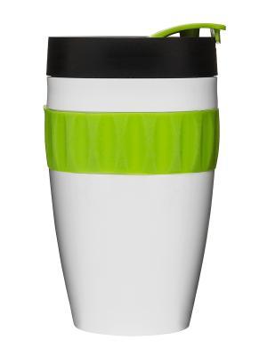 Термокружка, белый/черный/зеленый Sagaform. Цвет: белый, салатовый