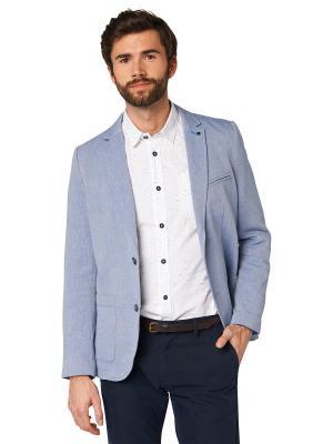 Пиджак TOM TAILOR. Цвет: серо-голубой, голубой, серый