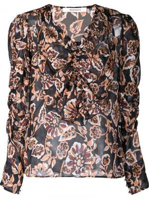 Блузка с оборками Rodarte. Цвет: жёлтый и оранжевый