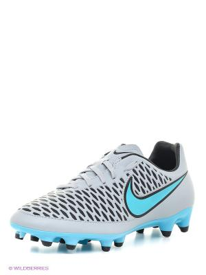 Бутсы MAGISTA ONDA FG Nike. Цвет: серый, голубой
