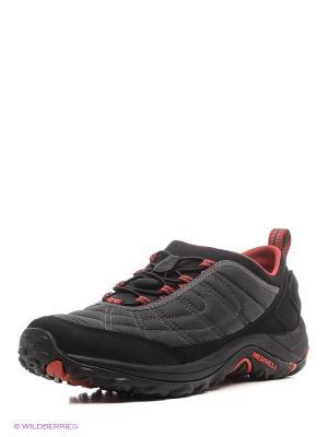 Ботинки MERRELL. Цвет: серый, красный