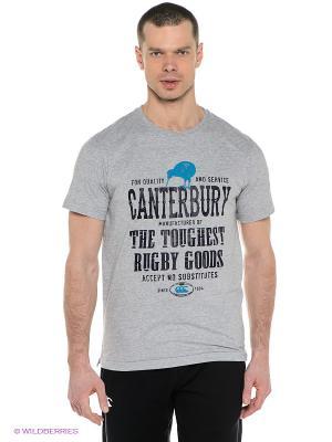 Футболка Canterbury. Цвет: серый меланж