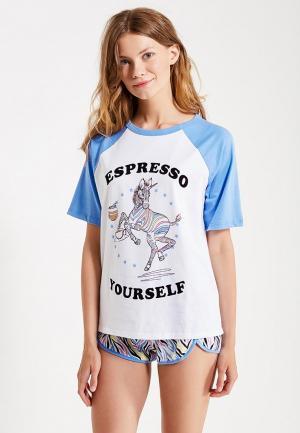 Пижама Topshop. Цвет: разноцветный