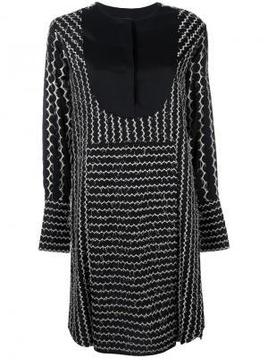 Платье-шифт с вышивкой Sportmax. Цвет: чёрный
