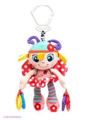 Игрушка-подвеска Девочка-божья коровка Playgro. Цвет: красный, бирюзовый, фиолетовый