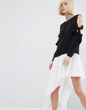 Style Mafia Асимметричное платье Dwyn. Цвет: мульти