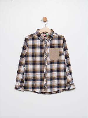 Рубашка SELA. Цвет: светло-коричневый