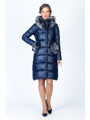 Пальто FREYA. Цвет: синий