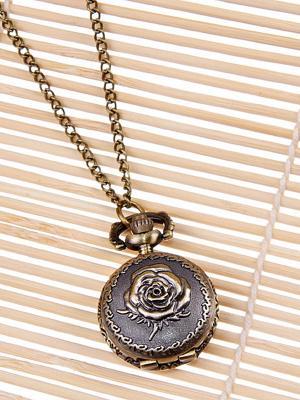 Кулон-часы Медальон с розой Mitya Veselkov. Цвет: бронзовый