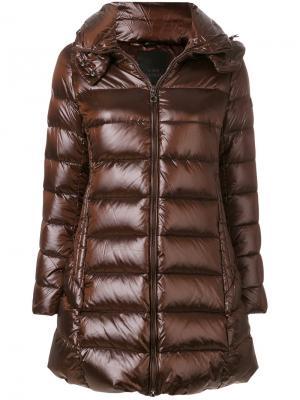Пальто-пуховик с капюшоном Tatras. Цвет: коричневый