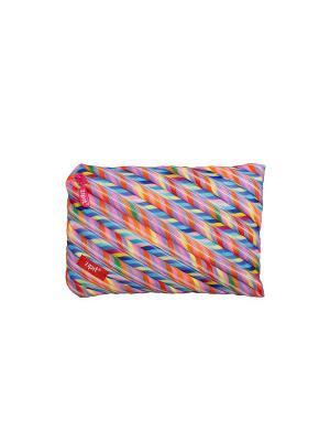 Пенал-сумочка COLORS JUMBO POUCH, цвет мульти полоски ZIPIT. Цвет: розовый, голубой