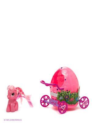 Пони с волшебной каретой Пониландия 1Toy. Цвет: розовый