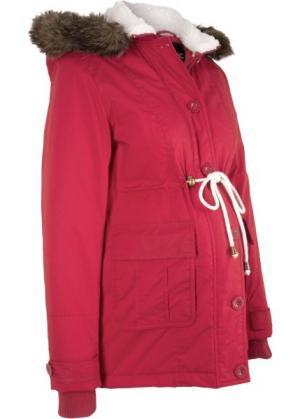 Зимняя куртка для беременных (темно-красный) bonprix. Цвет: темно-красный