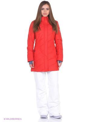 Куртка удлиненная High Experience. Цвет: красный