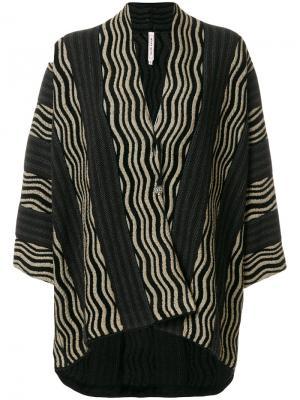 Куртка в полоску Antonio Marras. Цвет: чёрный