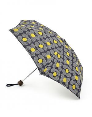 Зонт механический Цветы  by Fulton Orla Kiely. Цвет: синий