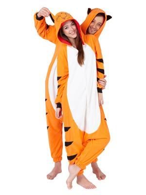 Комбинезон кигуруми Тигр ВИЛЛИ HandyWear. Цвет: оранжевый, белый