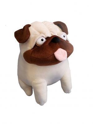 Собачушка Мопс Играмир. Цвет: бежевый, коричневый, розовый
