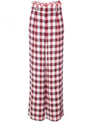 Широкие брюки с завышенной талией Oscar de la Renta. Цвет: белый