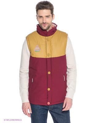 Жилет TRUESPIN Alaska Vest True Spin. Цвет: малиновый, красный, желтый, белый