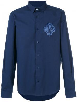 Джинсовая рубашка Versace Jeans. Цвет: синий