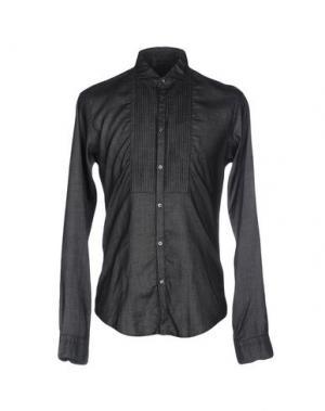 Джинсовая рубашка BRIAN DALES. Цвет: черный