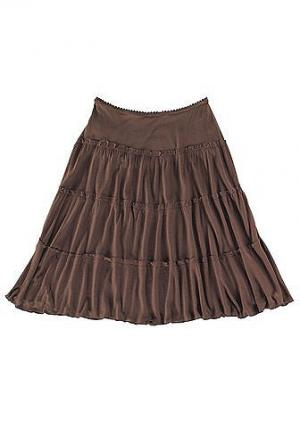 Короткая пляжная юбка Otto. Цвет: коричневый