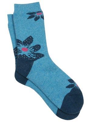 Носки Зувей. Цвет: бирюзовый