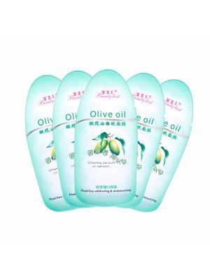 Набор кремовых масок для лица ТМ Beauty Host Olive oil, 5*20 гр.. Цвет: светло-зеленый