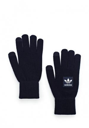 Перчатки adidas Originals. Цвет: синий